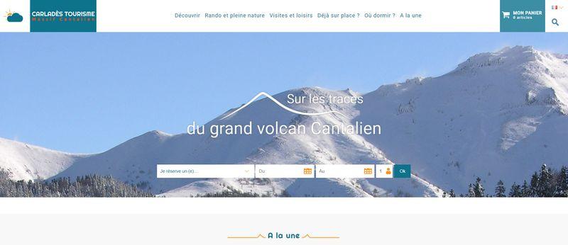 site web de l'office de tourisme du Carladès massif Cantalien